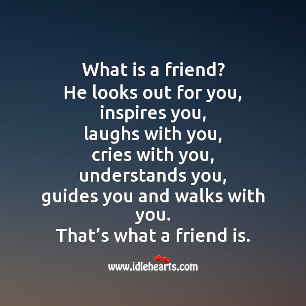 Image, What is a friend?