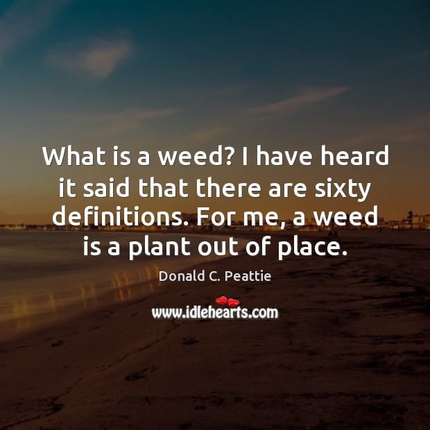 What is a weed? I have heard it said that there are Image