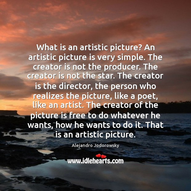 Image, What is an artistic picture? An artistic picture is very simple. The