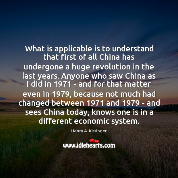 What is applicable is to understand that first of all China has Image