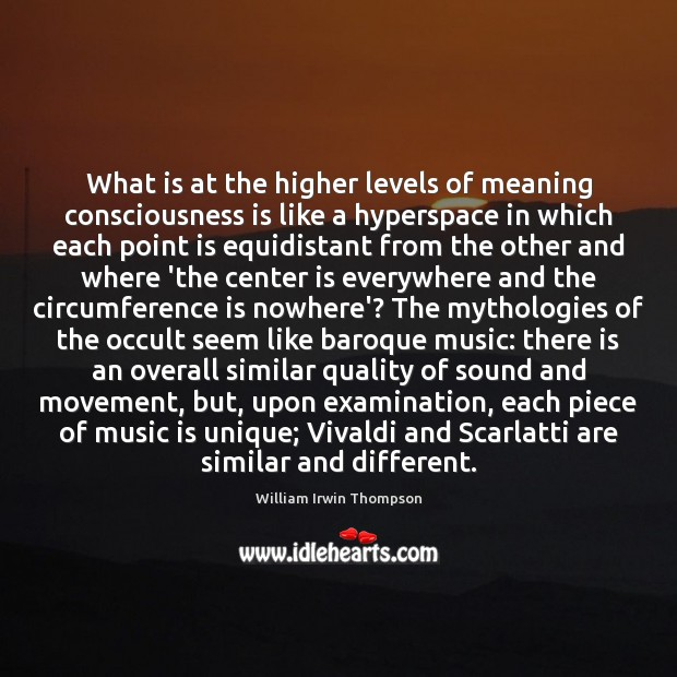 Image, What is at the higher levels of meaning consciousness is like a