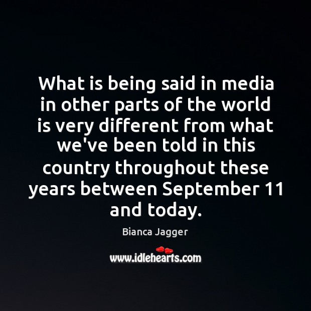 What is being said in media in other parts of the world Image
