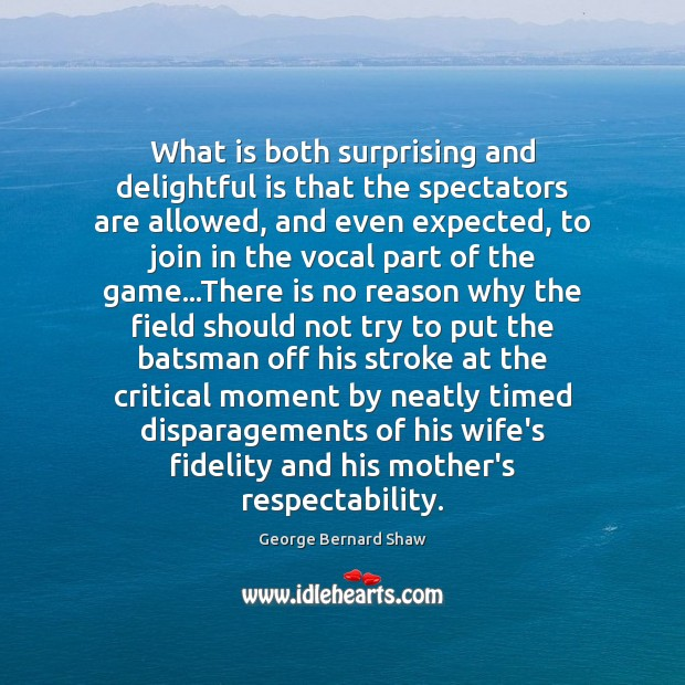 What is both surprising and delightful is that the spectators are allowed, Image