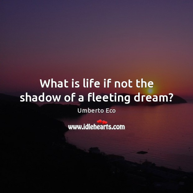 What is life if not the shadow of a fleeting dream? Image