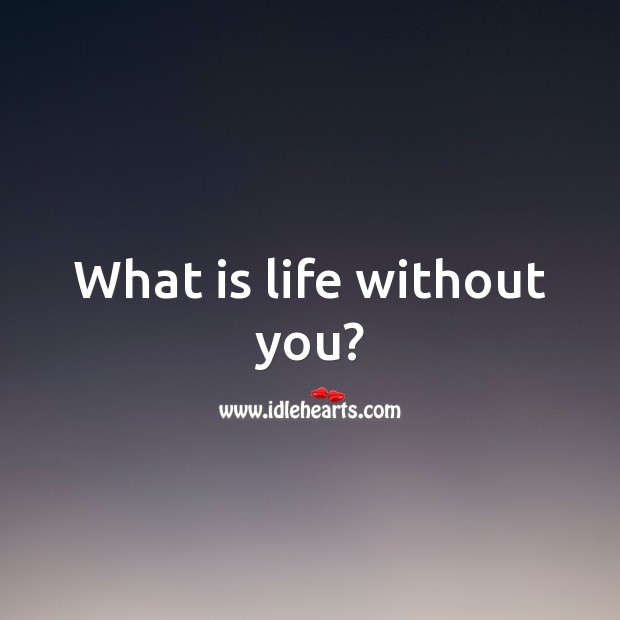 What is life without you? Life Without You Quotes Image