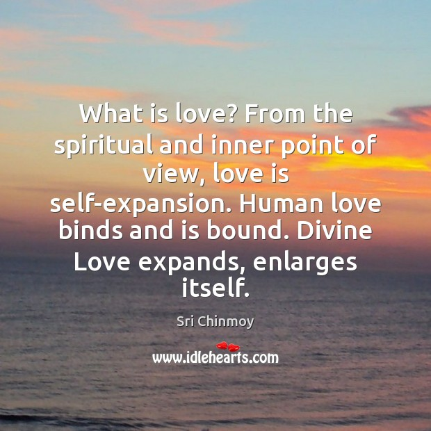 What is love? From the spiritual and inner point of view, love Image