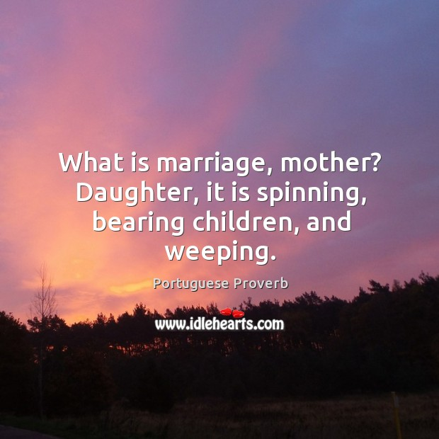 Image, What is marriage, mother? daughter, it is spinning