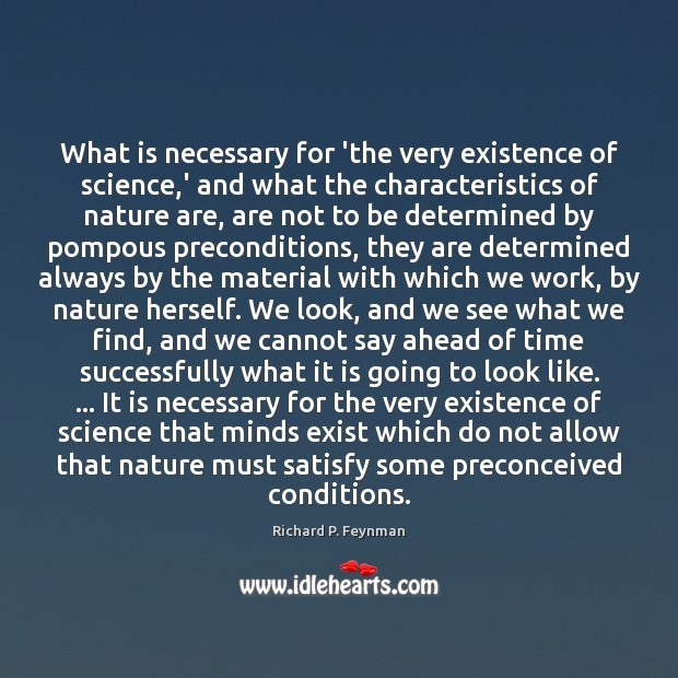 Image, What is necessary for 'the very existence of science,' and what