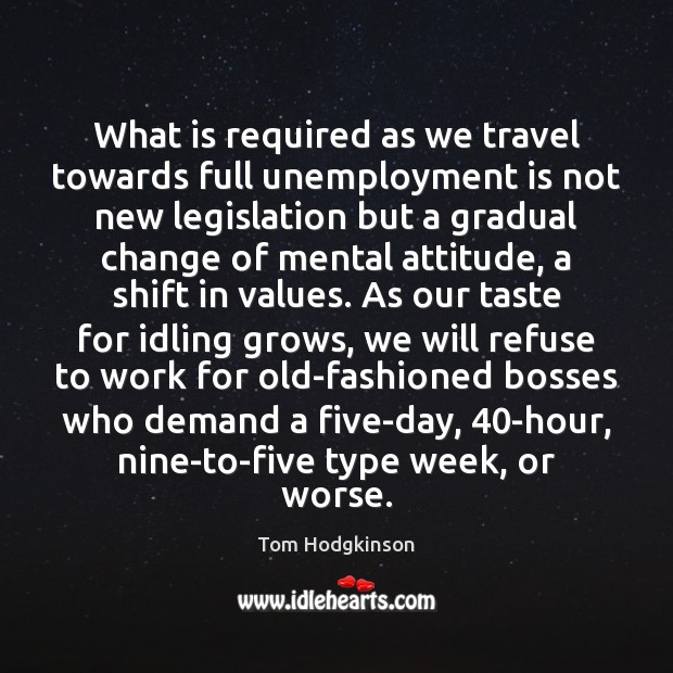 What is required as we travel towards full unemployment is not new Unemployment Quotes Image
