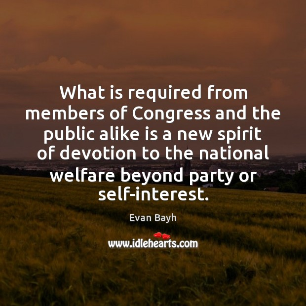 What is required from members of Congress and the public alike is Image