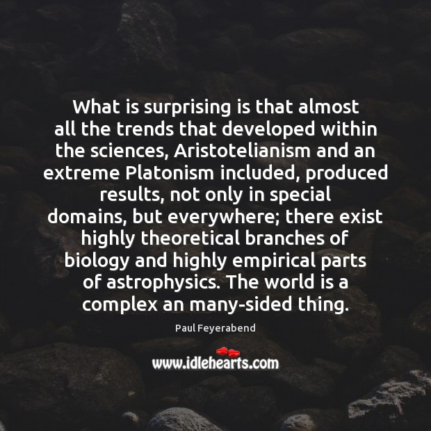 What is surprising is that almost all the trends that developed within Paul Feyerabend Picture Quote