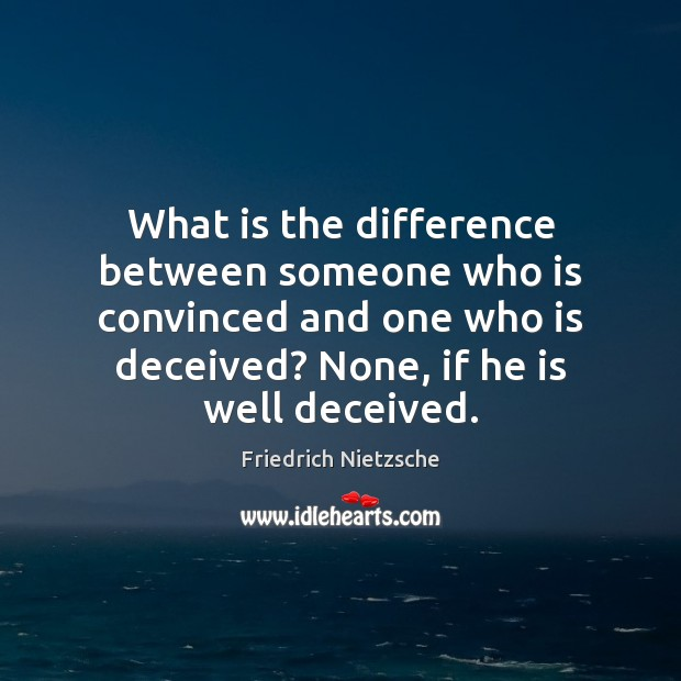 Image, What is the difference between someone who is convinced and one who