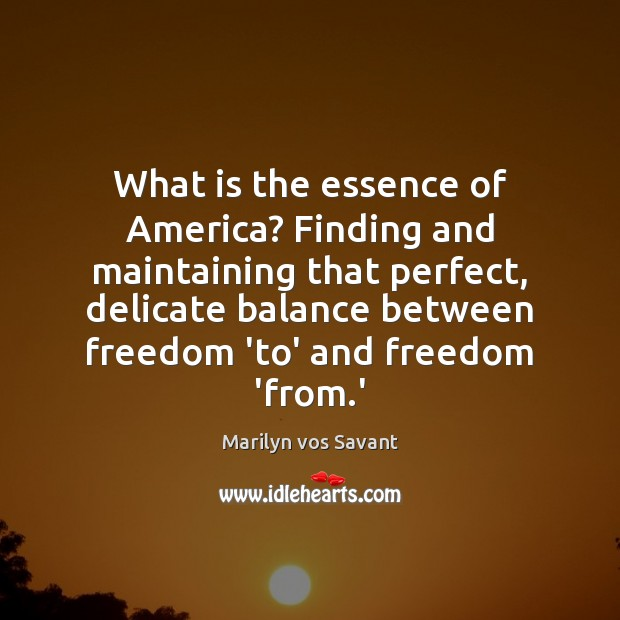 Image, What is the essence of America? Finding and maintaining that perfect, delicate