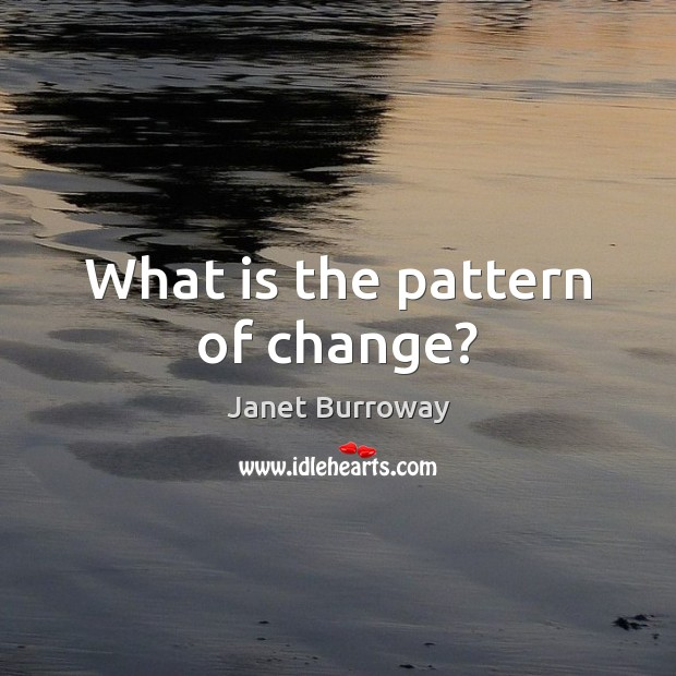 What is the pattern of change? Image