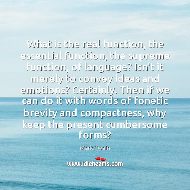 What is the real function, the essential function, the supreme function, of Image