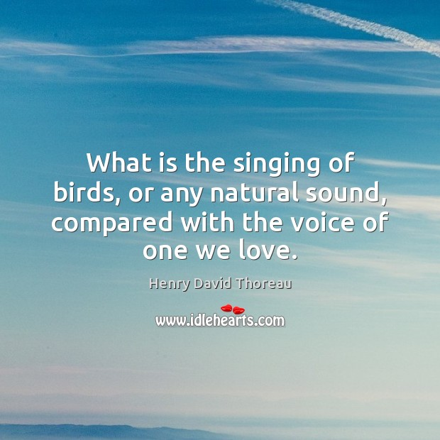 Image, What is the singing of birds, or any natural sound, compared with