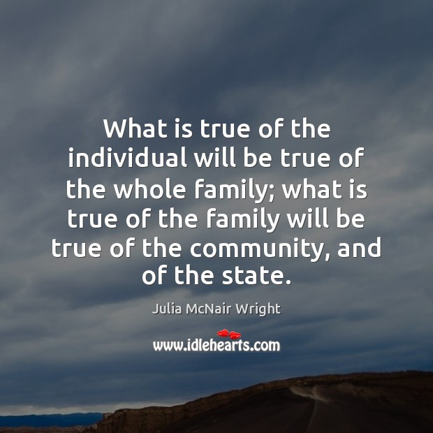 What is true of the individual will be true of the whole Image