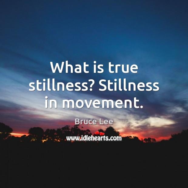 Image, What is true stillness? Stillness in movement.