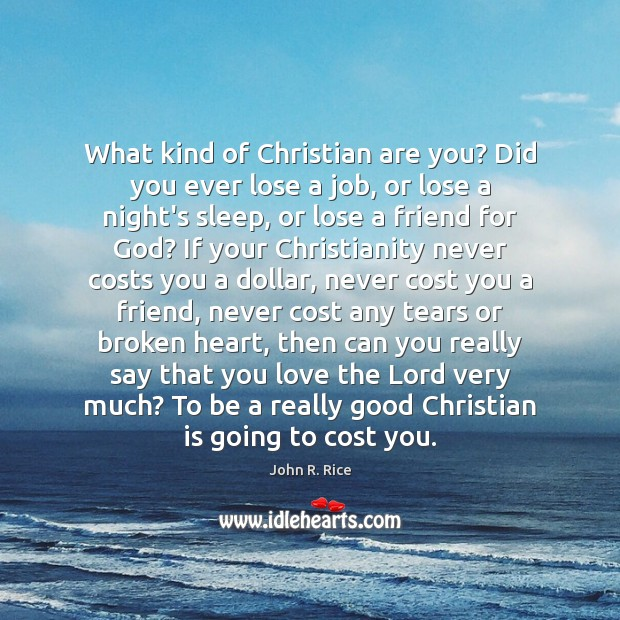 What kind of Christian are you? Did you ever lose a job, Image