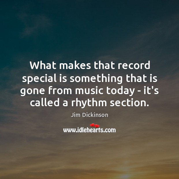What makes that record special is something that is gone from music Image