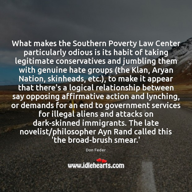 Image, What makes the Southern Poverty Law Center particularly odious is its habit