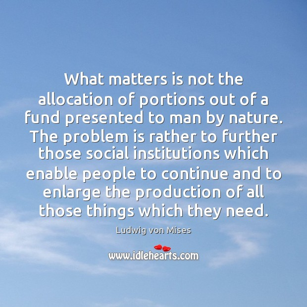 Image, What matters is not the allocation of portions out of a fund