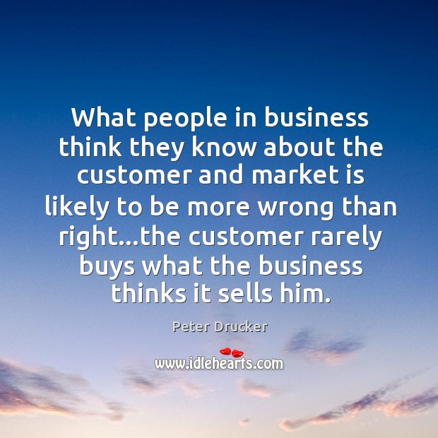 What people in business think they know about the customer and market Image