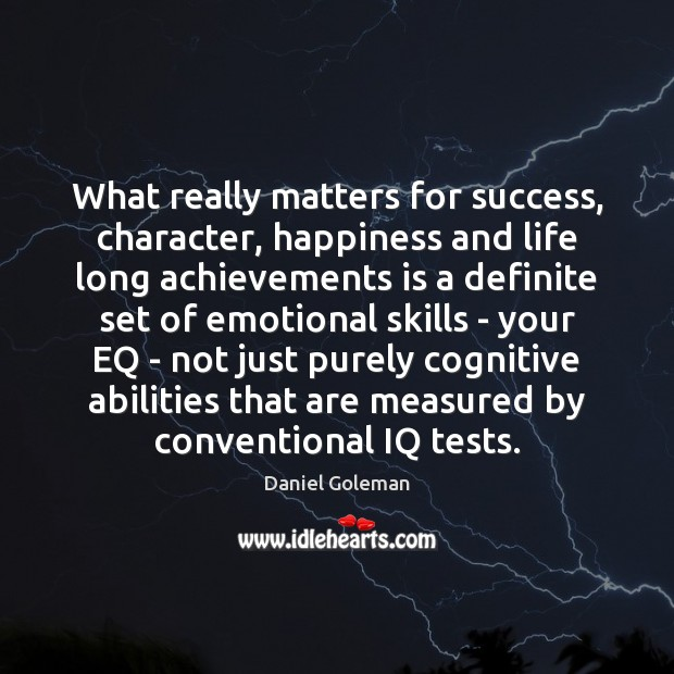 Image, What really matters for success, character, happiness and life long achievements is