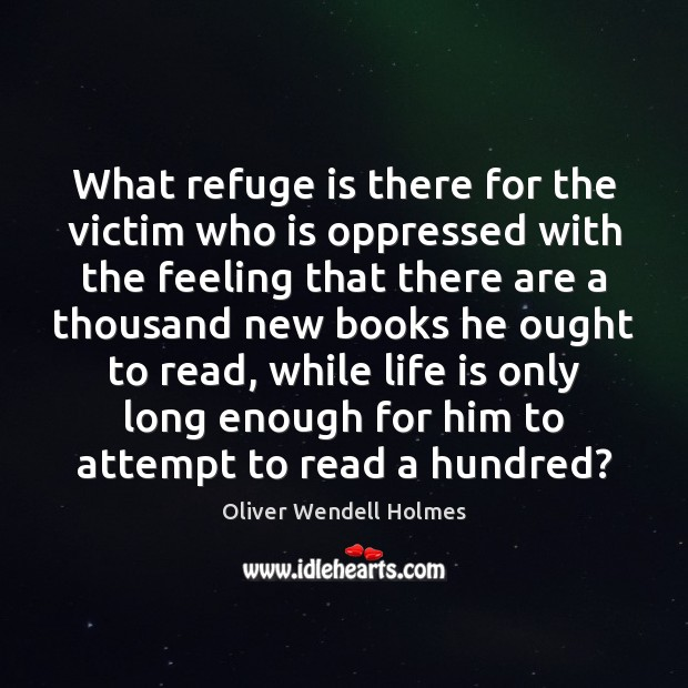 What refuge is there for the victim who is oppressed with the Image