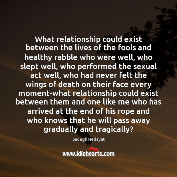 What Relationship Could Exist Between The Lives Of The Fools And Healthy