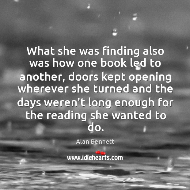 Image, What she was finding also was how one book led to another,