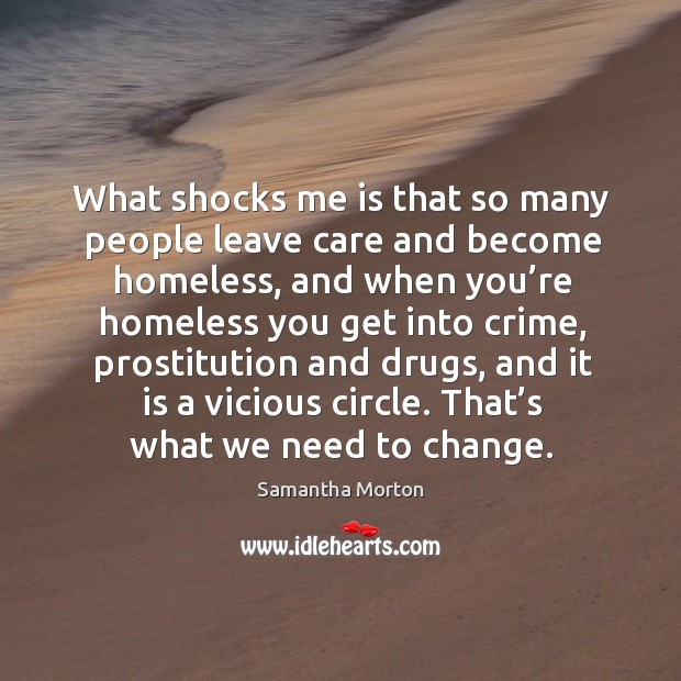What shocks me is that so many people leave care and become homeless Image