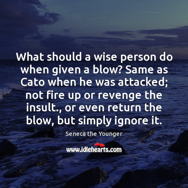 Image, What should a wise person do when given a blow? Same as