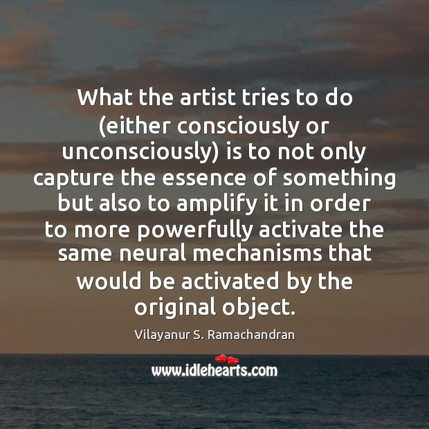 What the artist tries to do (either consciously or unconsciously) is to Image