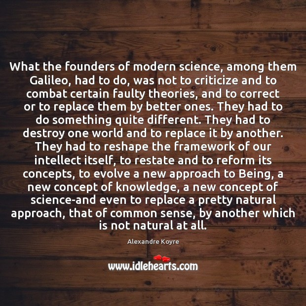 Image, What the founders of modern science, among them Galileo, had to do,