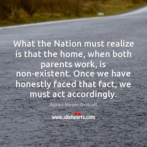 Image, What the Nation must realize is that the home, when both parents