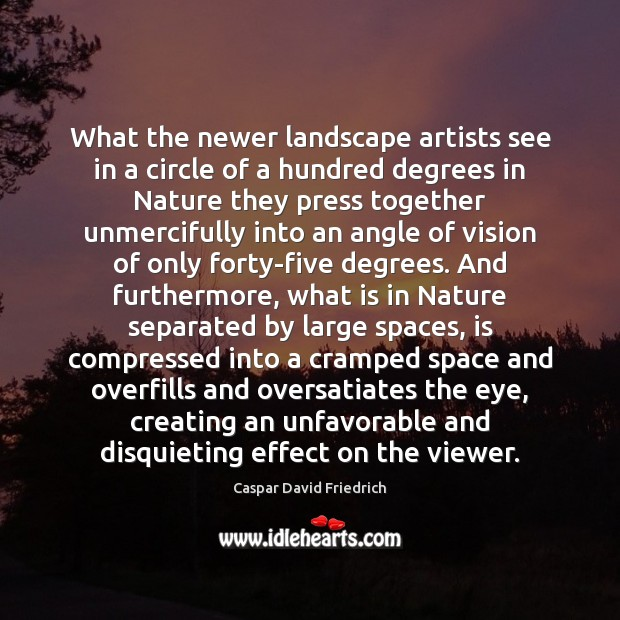 What the newer landscape artists see in a circle of a hundred Image