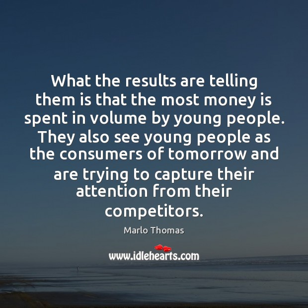 What the results are telling them is that the most money is Image