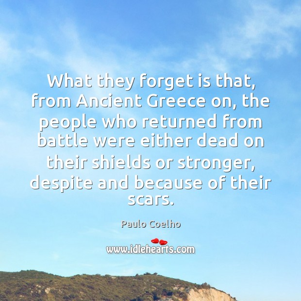 What they forget is that, from Ancient Greece on, the people who Image
