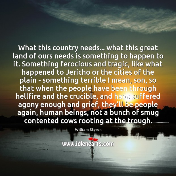What this country needs… what this great land of ours needs is Image