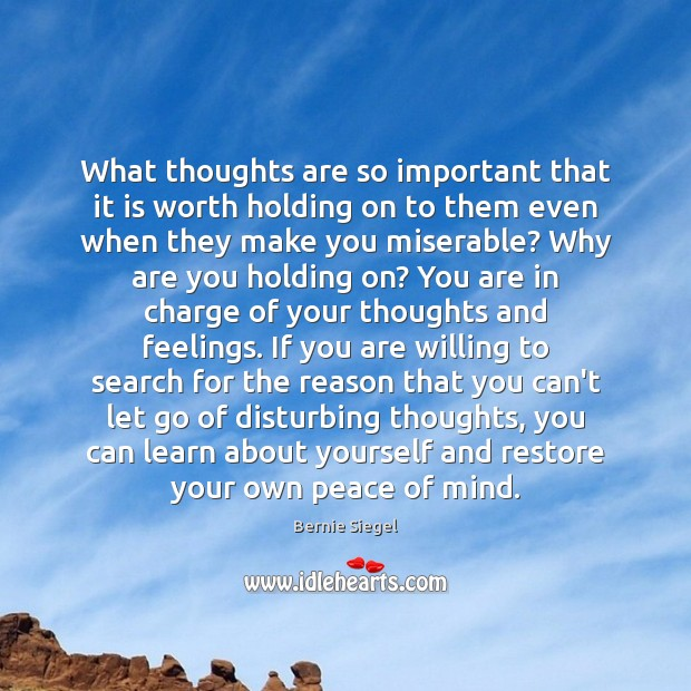 Image, What thoughts are so important that it is worth holding on to