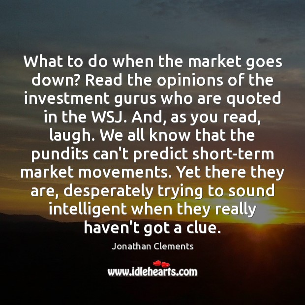 What to do when the market goes down? Read the opinions of Investment Quotes Image