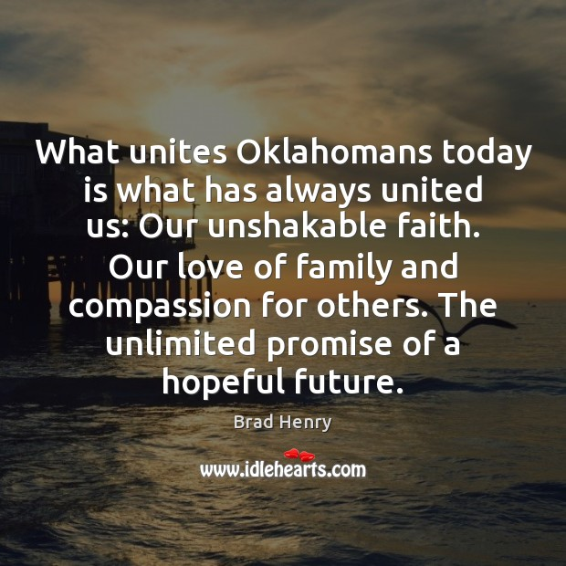 Image, What unites Oklahomans today is what has always united us: Our unshakable