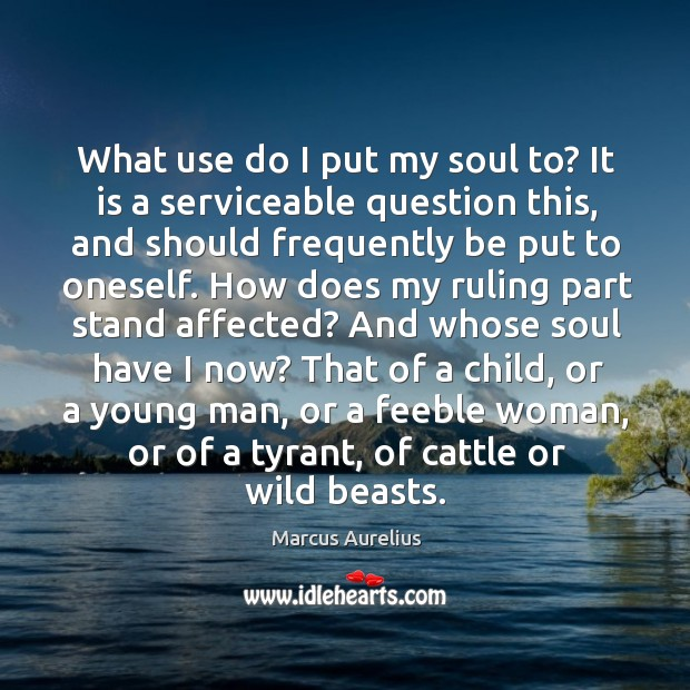 What use do I put my soul to? It is a serviceable Image