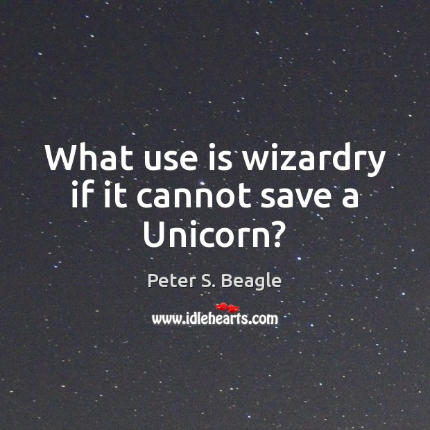 What use is wizardry if it cannot save a Unicorn? Image