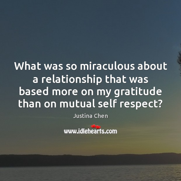 What was so miraculous about a relationship that was based more on Image