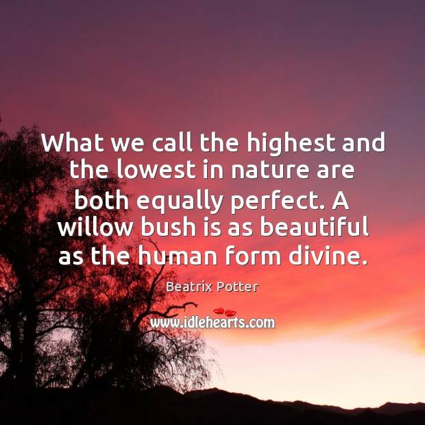 What we call the highest and the lowest in nature are both Image