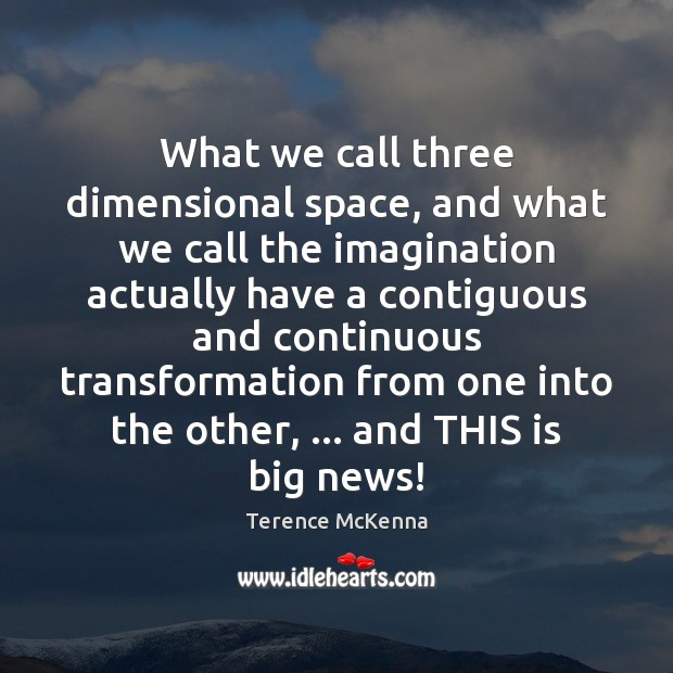 What we call three dimensional space, and what we call the imagination Image
