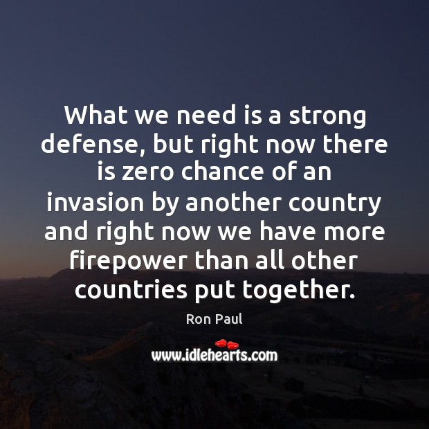 Image about What we need is a strong defense, but right now there is