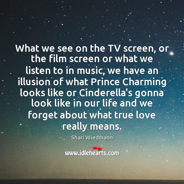 Image, What we see on the TV screen, or the film screen or